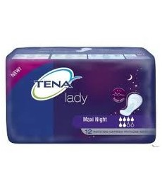 TENA LADY COMPRESA MAXI NIGHT 12