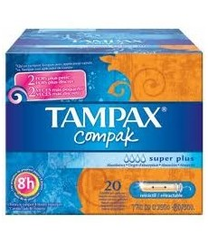 TAMPAX COMPAK SUPER PLUS 20