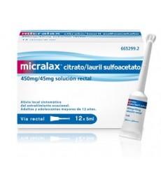 MICRALAX 12 CANULAS 5 ML