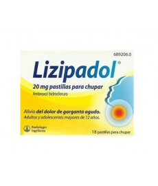LIZIPADOL 20 MG PASTILLAS PARA CHUPAR