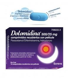 DOLOMIDINA 500/25 MG 10 COMPRIMIDOS RECUBIERTOS DE PELÍCULA
