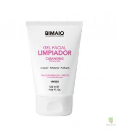 Gel limpiador facial unisex 120 ml. Bimaio